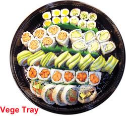 vegetable sushi tray c