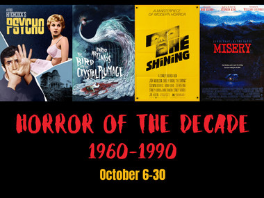 horror of the decade: 1960-1990