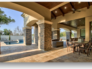 Custom Home Outdoor Living Spaces