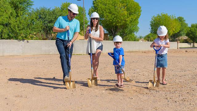 Ground breaking for the Stavros Chandler AZ custom home