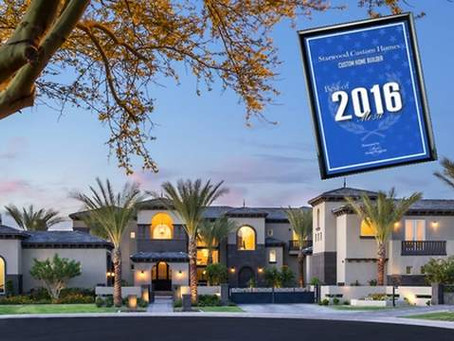 Starwood Custom Homes 2016 Best of Mesa Award