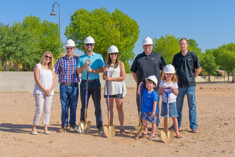 Starwood Chandler Custom Home Ground Breaking with the Stavros Family