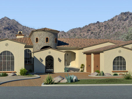 A Phoenix Custom Home Hillside Design