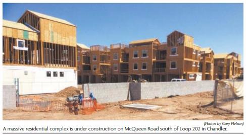 Chandler residential complex under construction