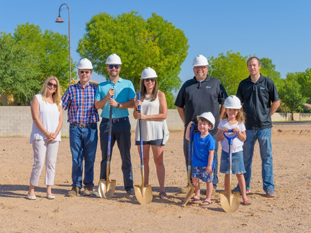 The Stavros Chandler Custom Home Ground-Breaking Ceremony