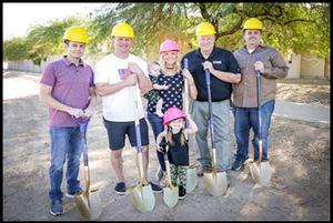 The Anderson groundbreaking event was full of excitement.