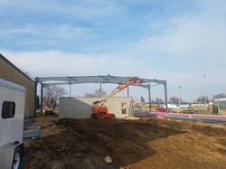 Steel going up in new gymnatorium