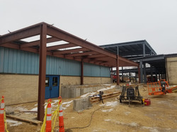 Beams are added to the middle school