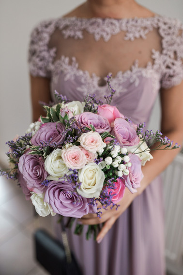 Bridesmaids and Bouquet