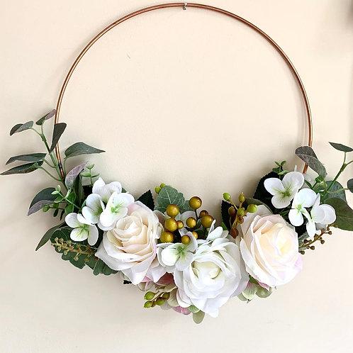Metal wreath hoop