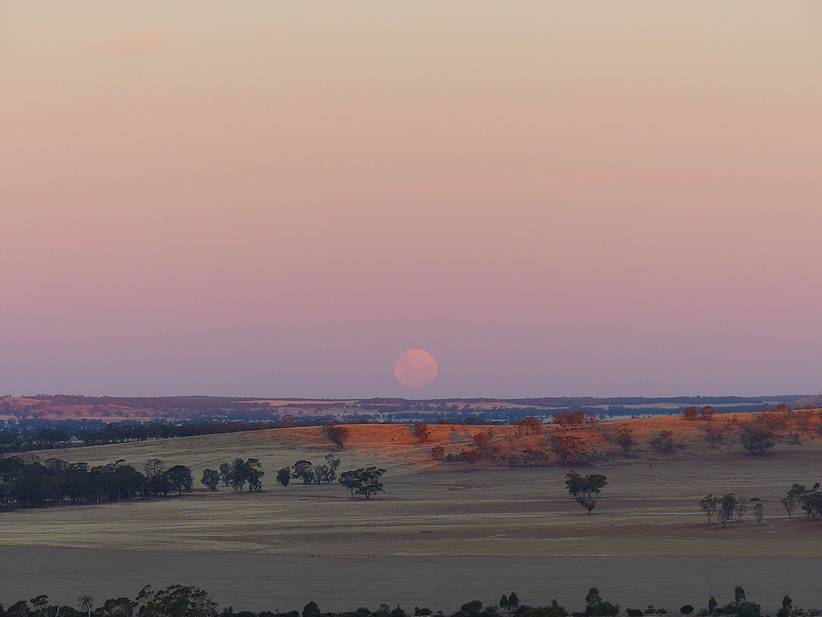 full moon Wattsville - Coonooer Bridge Windfarm 24.1.2016, A Hughes