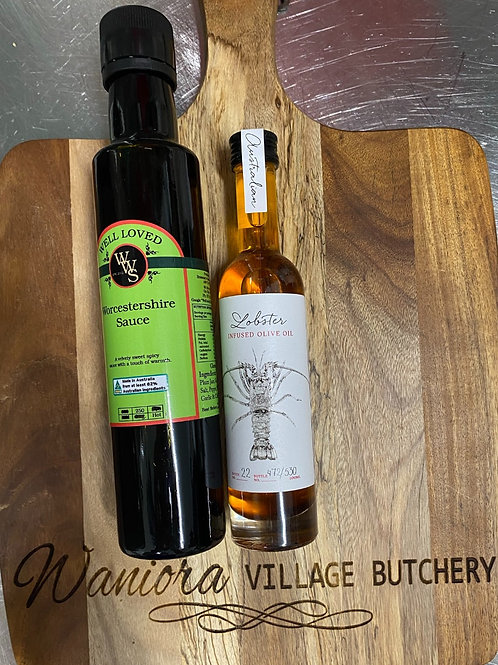 Well Loved Worcestershire Sauce & Lobster Infused Olive Oil