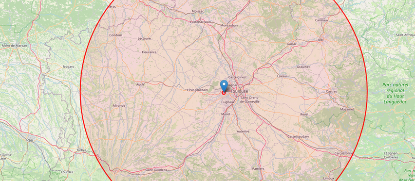 Séjour à moins de 100km autours de Toulouse
