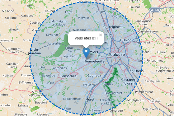Séjour à moins de 20km autours de Toulouse