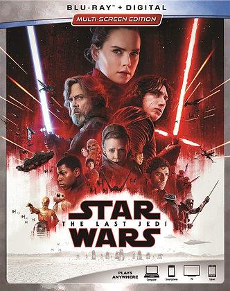 Star Wars The Last Jedi Blu ray+Digital