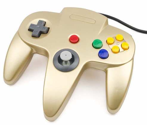 Teknogame Classic Controller for N64 (Gold) - Nintendo 64
