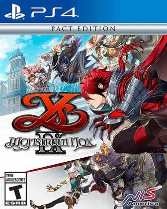 Ys Ix: Monstrom Nox  Pact Edition (PS4)- PlayStation 4