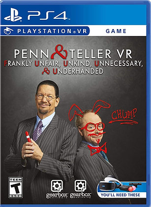 Penn & Teller VR: Frankly Unfair Unkind Unnecessary & Underhanded - PlayStation