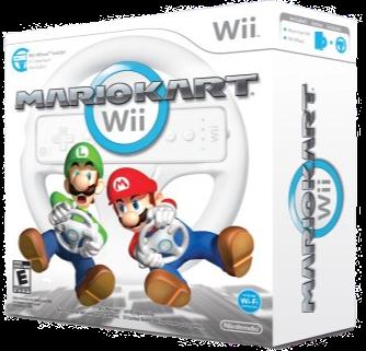 Mario Kart with Wheel- (WII) - Nintendo Wi