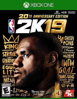 NBA 2K19 20th Anniversary Edition -Xbox one