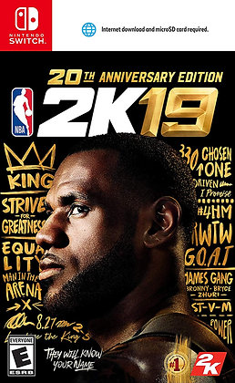 NBA 2K19 20th Anniversary Edition -Switch