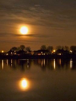 Super Moon over Yeadon Tarn