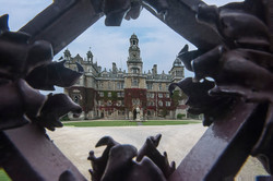 Thorsby hall through the gate