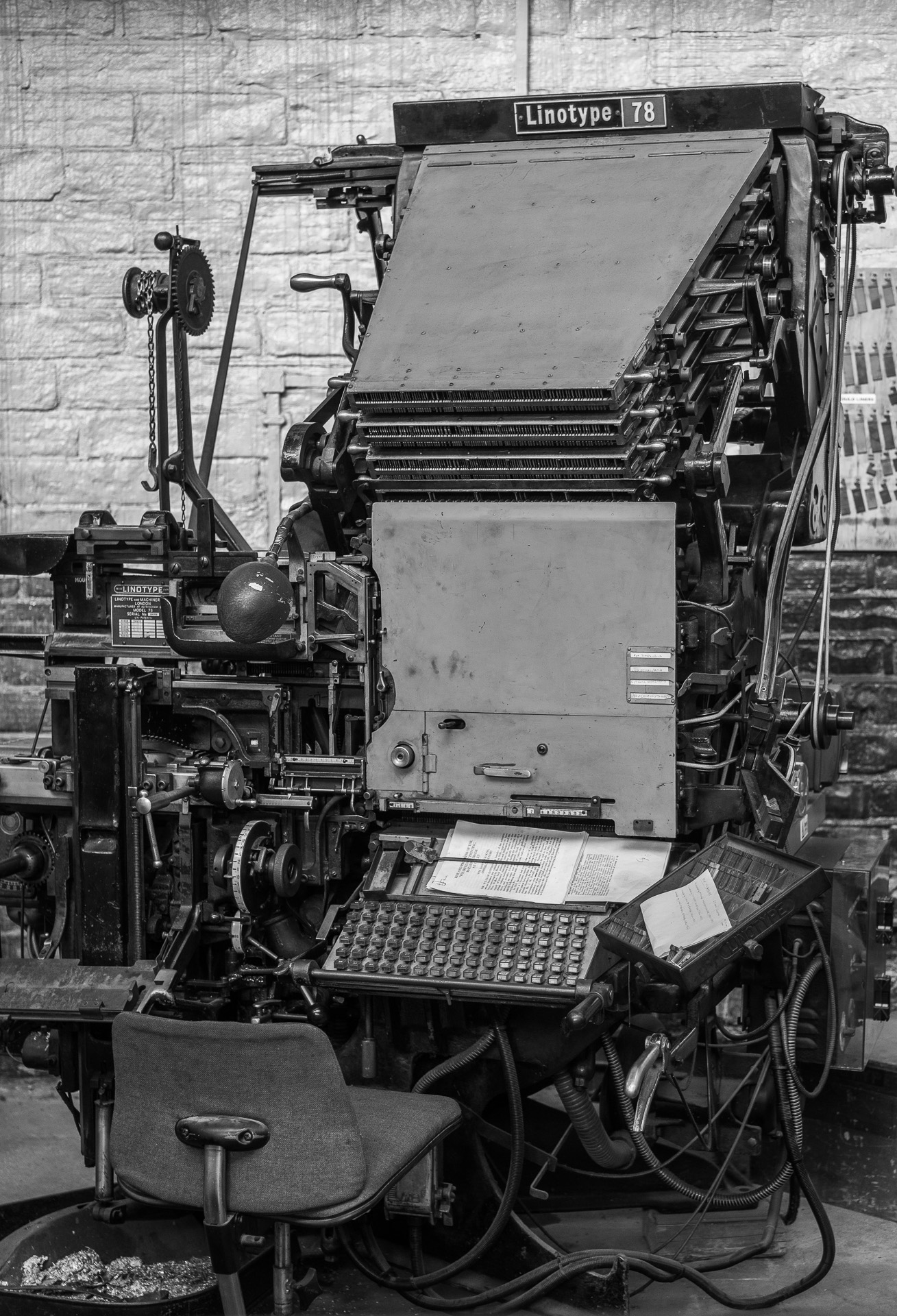 Linotype Printing Machine