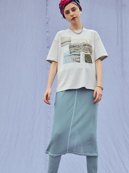 Sheer jacquard layered Skirt