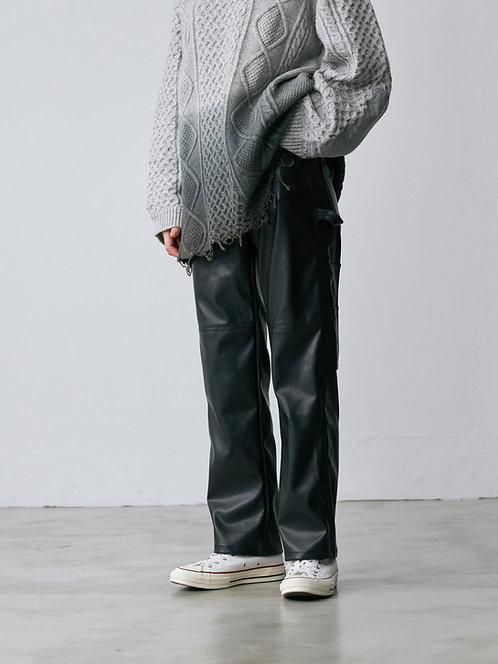 PU Leather  painter Pants