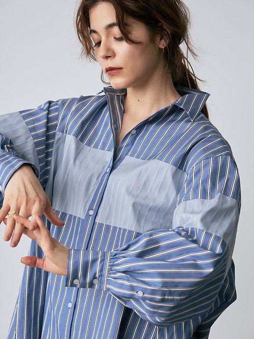 stripe combination shirt