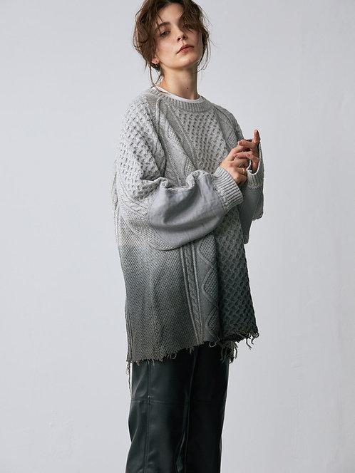 Step dyeing Fisherman Knit