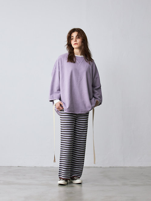 high waist rib knit pants