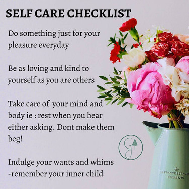Self Care Checklist