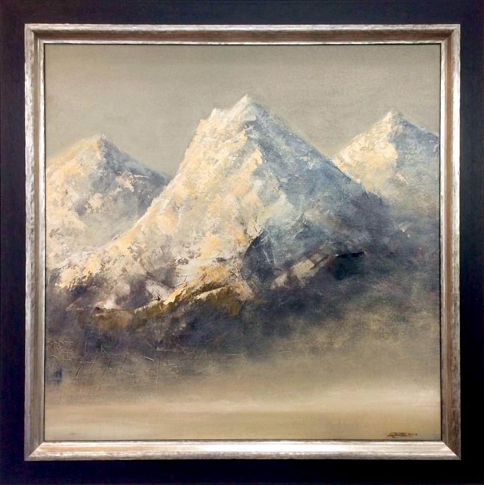 Mountains in dawn