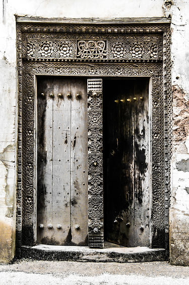 Traditional door of Stone Town, Zanzibar