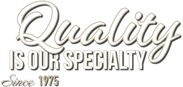 "El Ladrillo's tagline ""Quality is our specialty"""