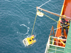 ROV works gold recovery