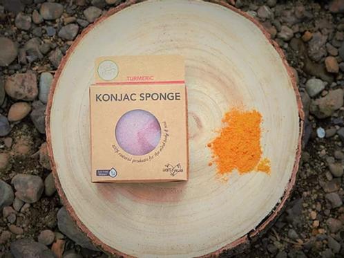 Turmeric Konjac Sponge (for dry or damaged skin)