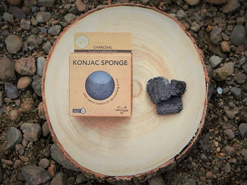 Activated Charcoal Konjac Sponge (for oily or acne prone skin)