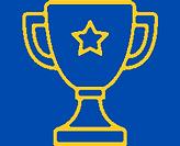 Gold trophy outline image