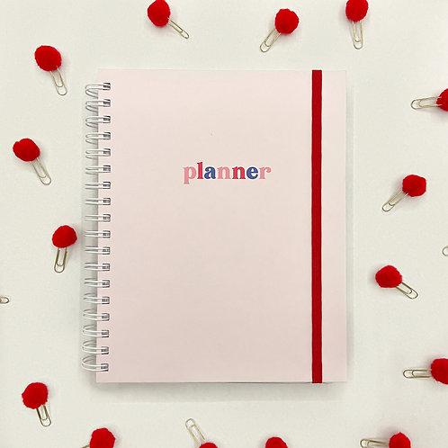 Planner Anual Rosa Claro
