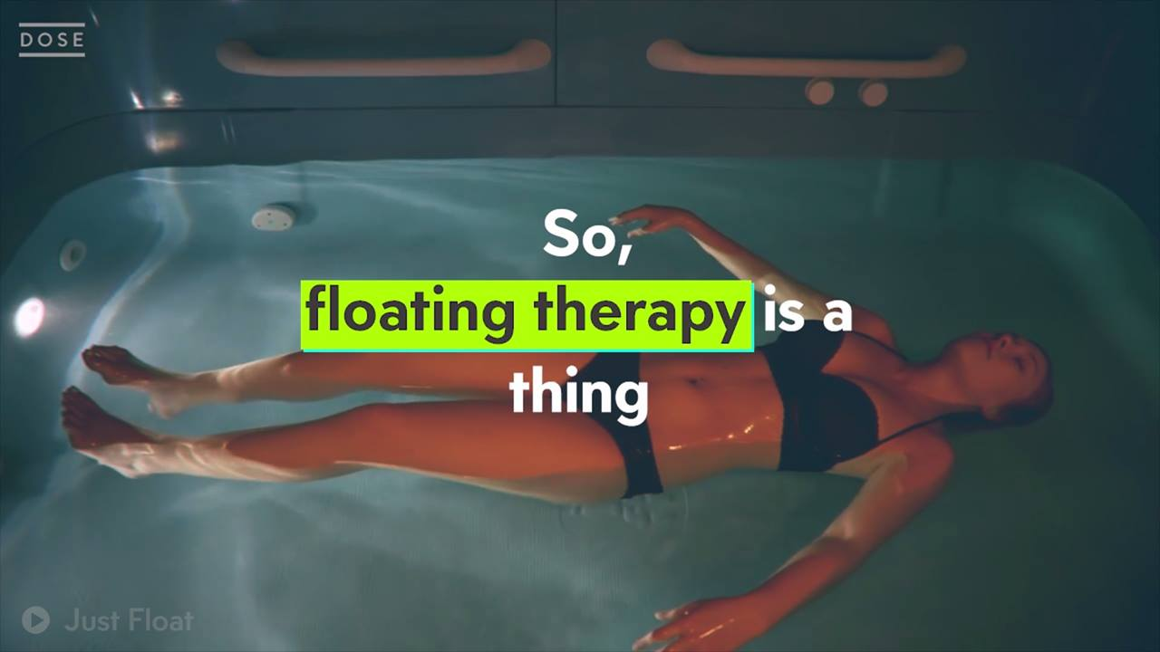 Floating therapy is a thing now