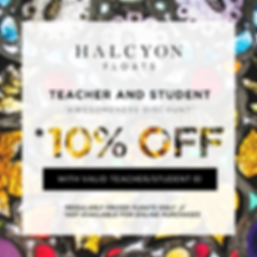 Student and Teacher Discount