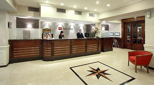 Recepción del Waldorf Hotel Buenos Aires