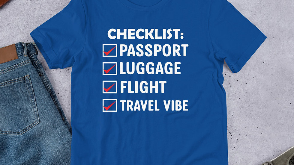 Travel Checklist Unisex T-Shirt