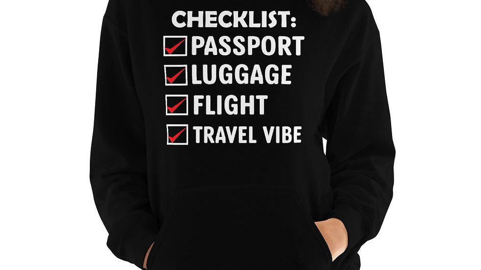 Travel Checklist Unisex Hoodie