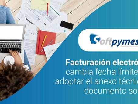 Facturación electrónica: cambia fecha límite para adoptar el anexo técnico de documento soporte