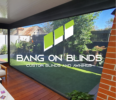 Ziptrak outdoor blinds, bang on blinds