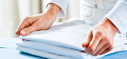 Folding Ironed Clothes